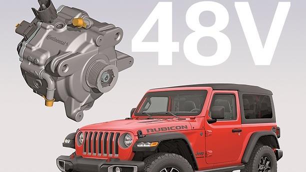 Jeep® Wrangler'ın Yeni eTorque Yarı Hibrit Sistemi Continental Teknolojisi ile Çalışıyor.